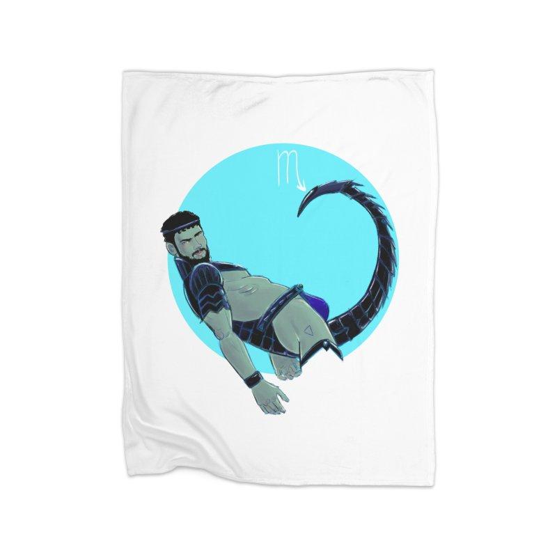 Scorpio Home Fleece Blanket Blanket by Ego Rodriguez