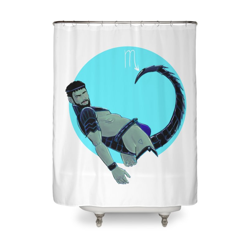 Scorpio Home Shower Curtain by Ego Rodriguez