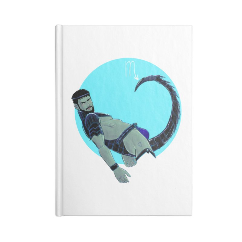 Scorpio Accessories Blank Journal Notebook by Ego Rodriguez