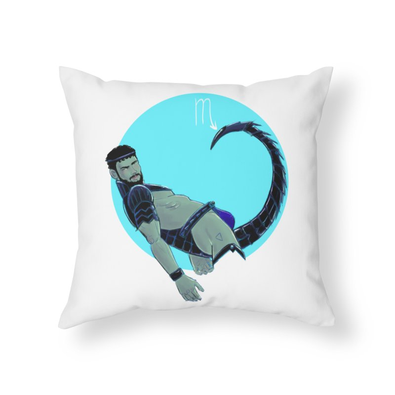 Scorpio Home Throw Pillow by Ego Rodriguez