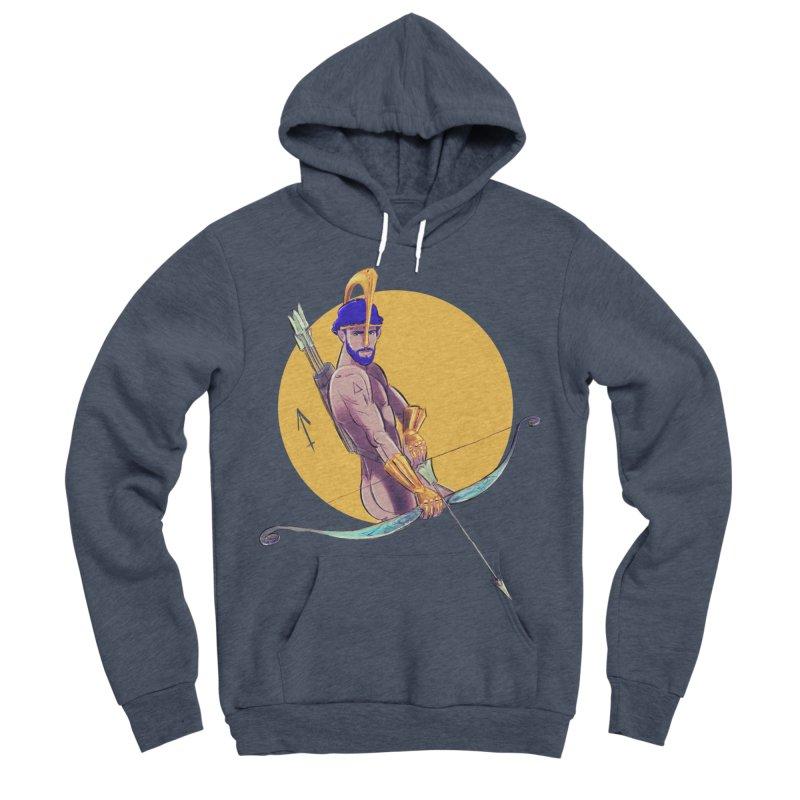 Sagittarius Men's Sponge Fleece Pullover Hoody by Ego Rodriguez