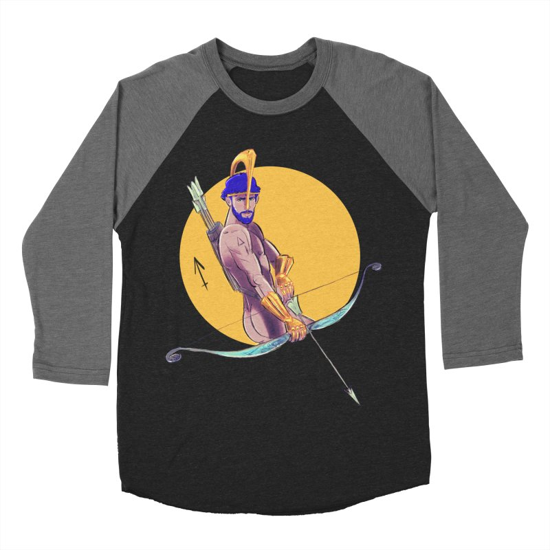 Sagittarius Men's Baseball Triblend Longsleeve T-Shirt by Ego Rodriguez