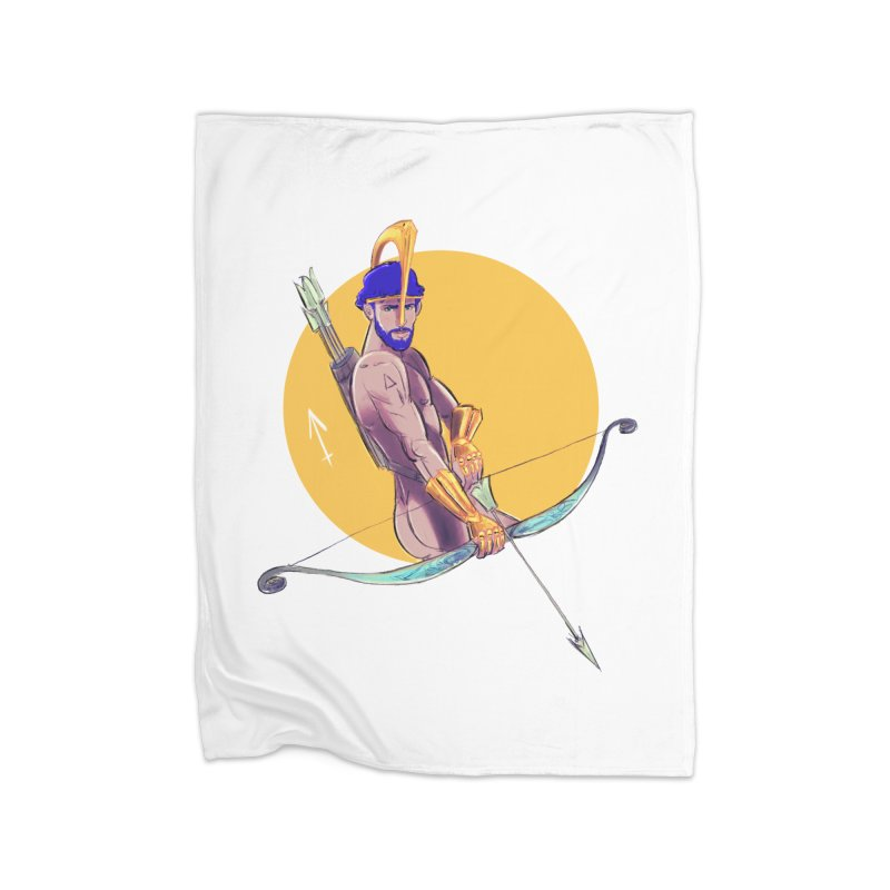 Sagittarius Home Fleece Blanket Blanket by Ego Rodriguez