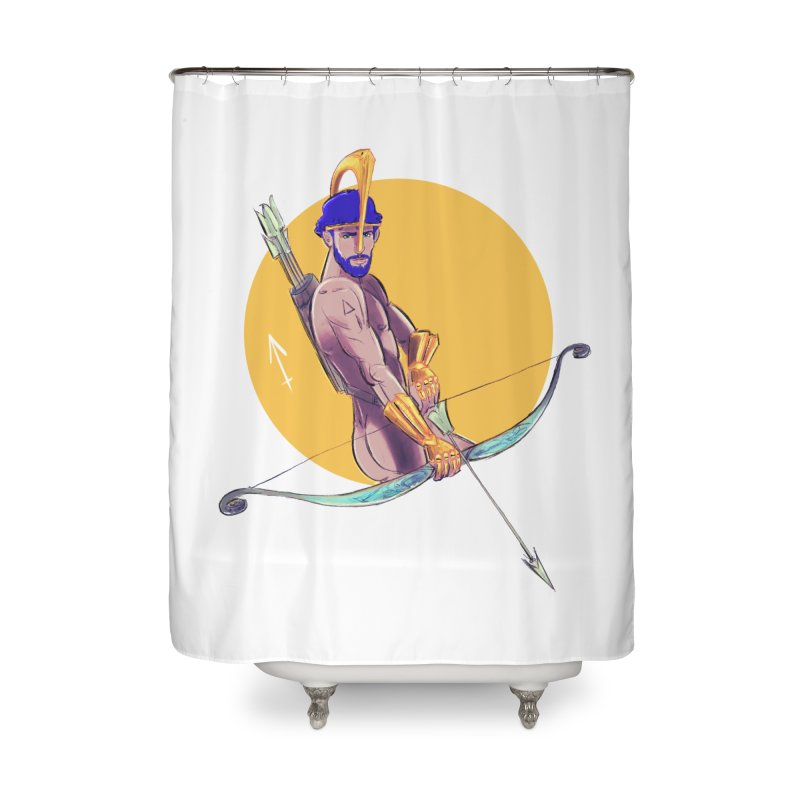 Sagittarius Home Shower Curtain by Ego Rodriguez