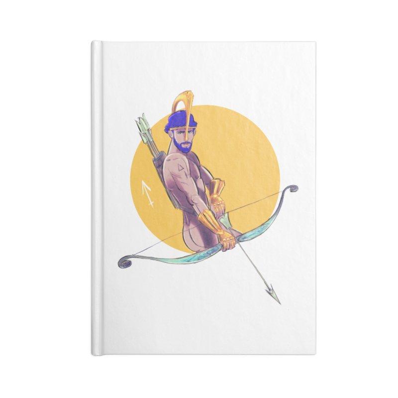 Sagittarius Accessories Blank Journal Notebook by Ego Rodriguez