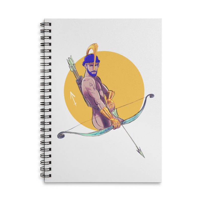 Sagittarius Accessories Lined Spiral Notebook by Ego Rodriguez