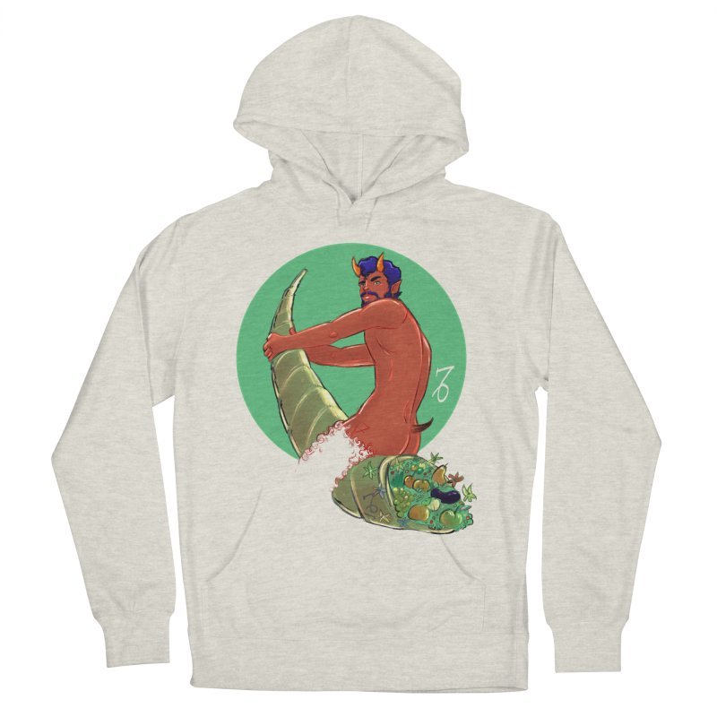 Capricorn Men's French Terry Pullover Hoody by Ego Rodriguez