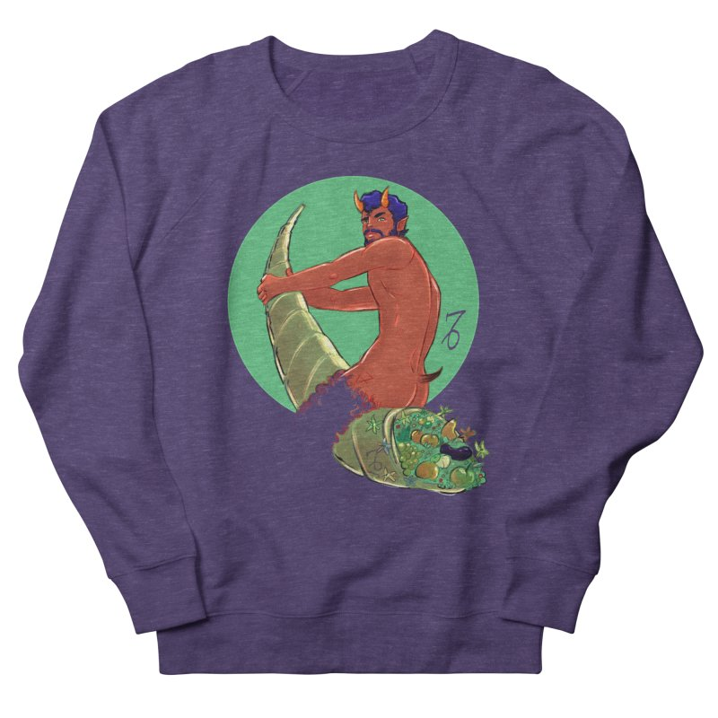 Capricorn Men's French Terry Sweatshirt by Ego Rodriguez
