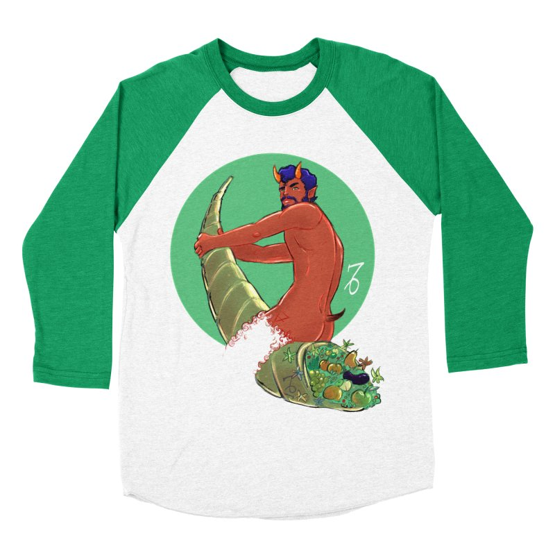 Capricorn Men's Baseball Triblend Longsleeve T-Shirt by Ego Rodriguez