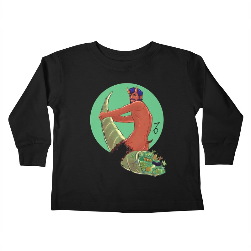 Capricorn Kids Toddler Longsleeve T-Shirt by Ego Rodriguez