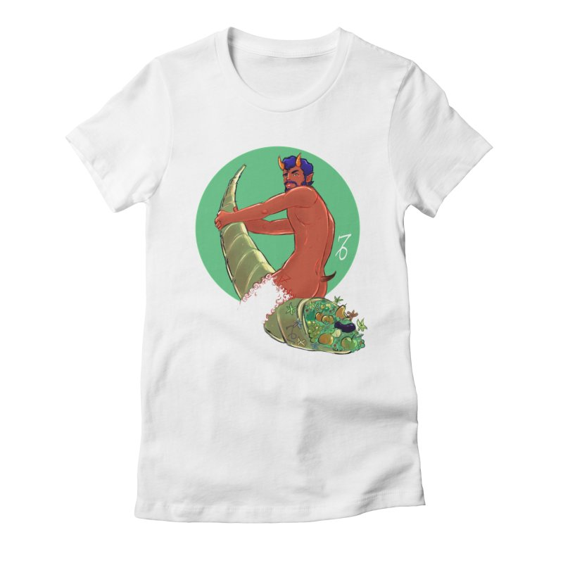 Capricorn Women's Fitted T-Shirt by Ego Rodriguez