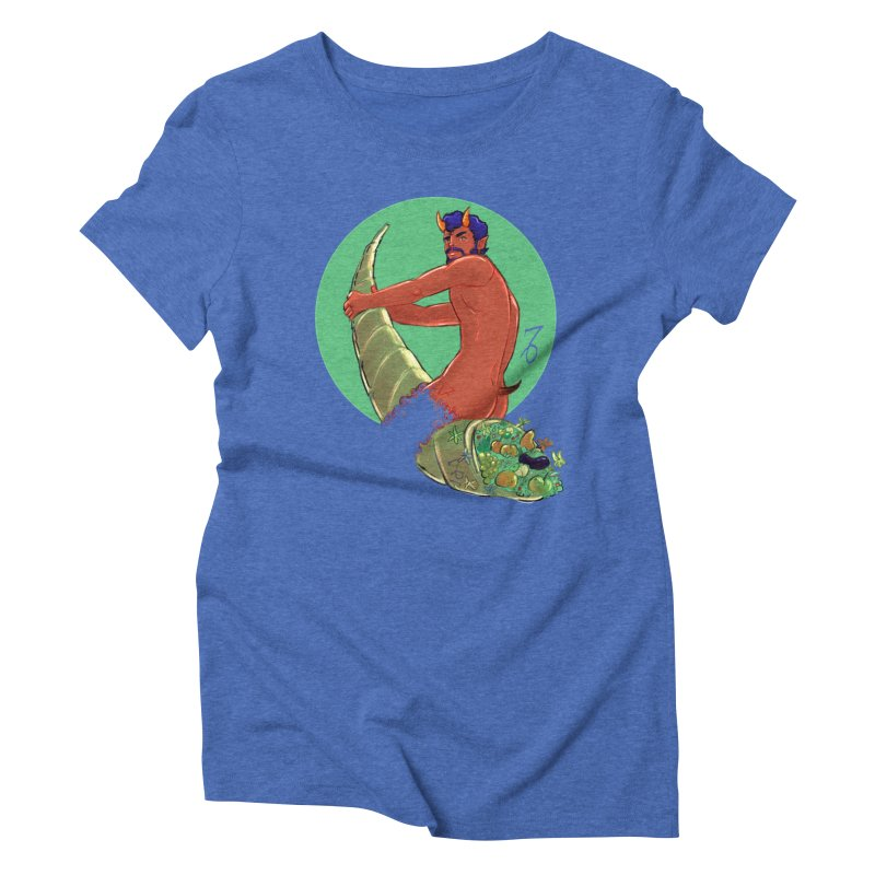 Capricorn Women's Triblend T-Shirt by Ego Rodriguez