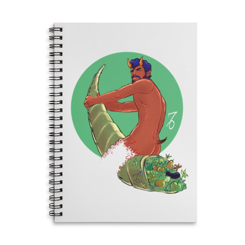 Capricorn Accessories Lined Spiral Notebook by Ego Rodriguez