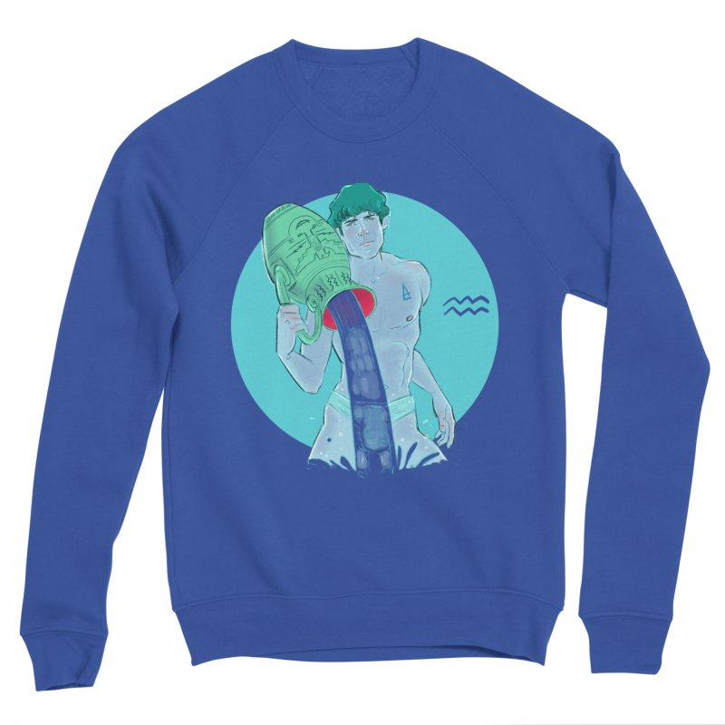 Aquarius Men's Sweatshirt by Ego Rodriguez