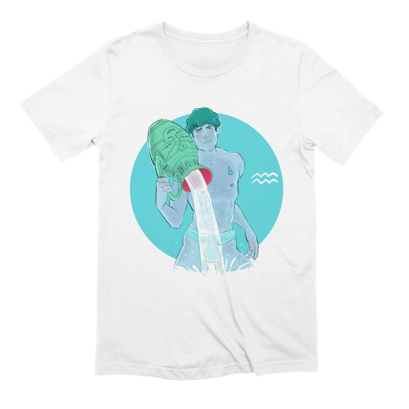 Aquarius in Men's Extra Soft T-Shirt White by Ego Rodriguez