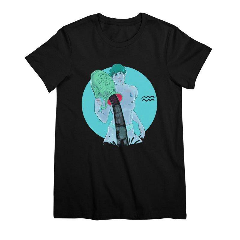 Aquarius Women's Premium T-Shirt by Ego Rodriguez