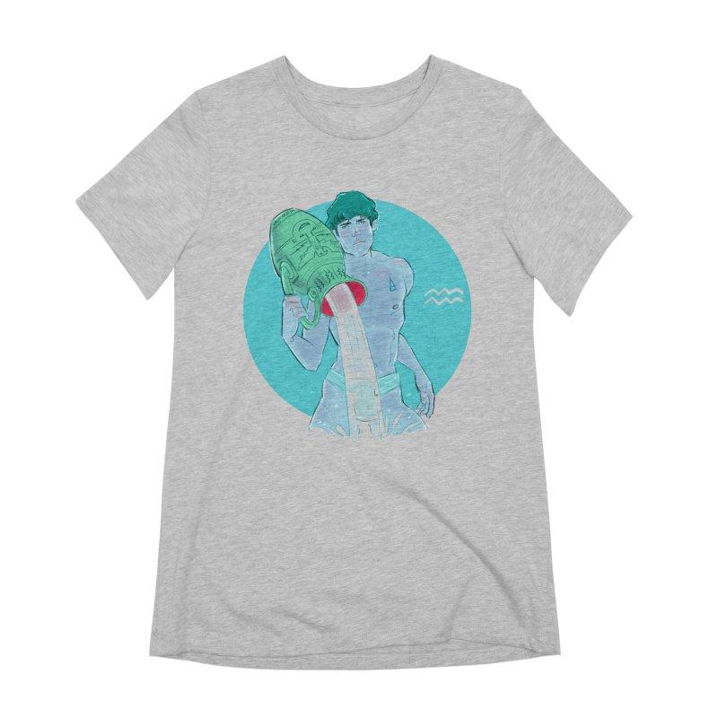 Aquarius Women's Extra Soft T-Shirt by Ego Rodriguez