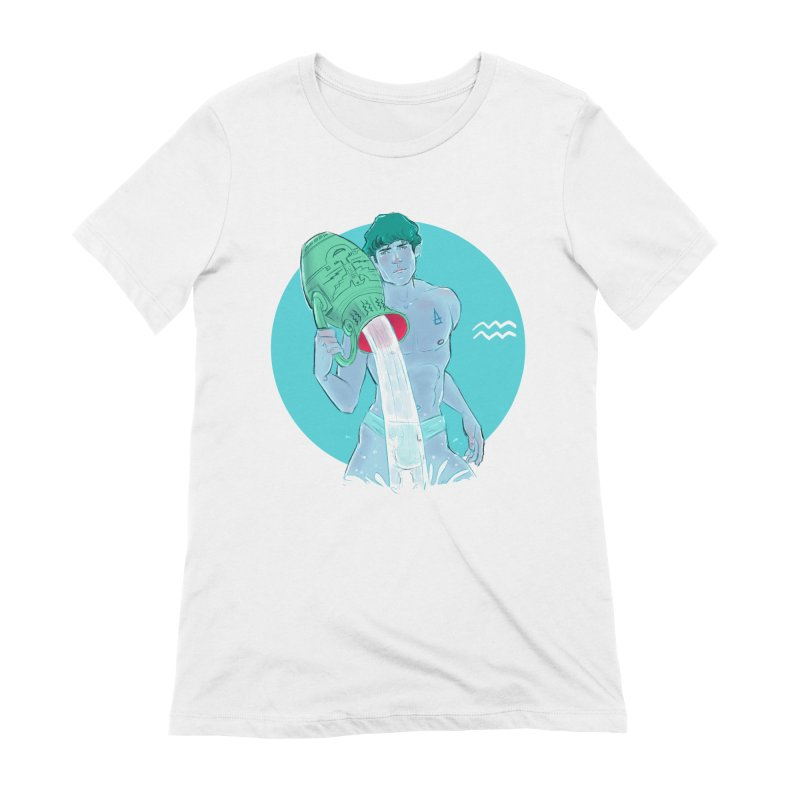Aquarius Women's Extra Soft T-Shirt by Ego Rodriguez
