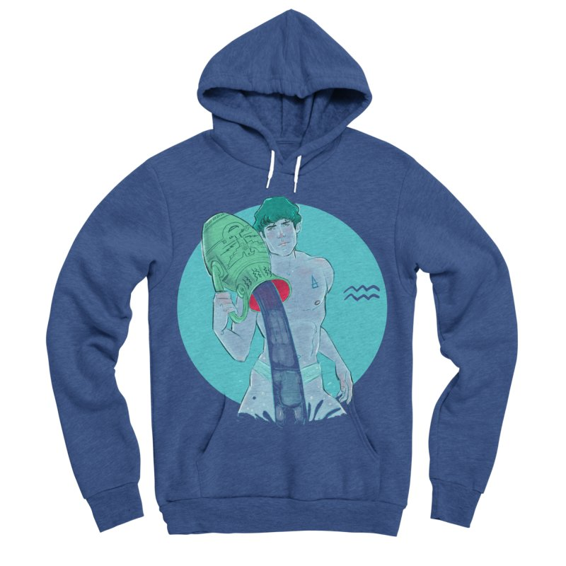 Aquarius Women's Sponge Fleece Pullover Hoody by Ego Rodriguez