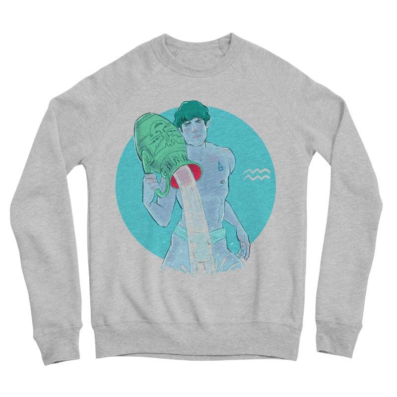 Aquarius Men's Sponge Fleece Sweatshirt by Ego Rodriguez