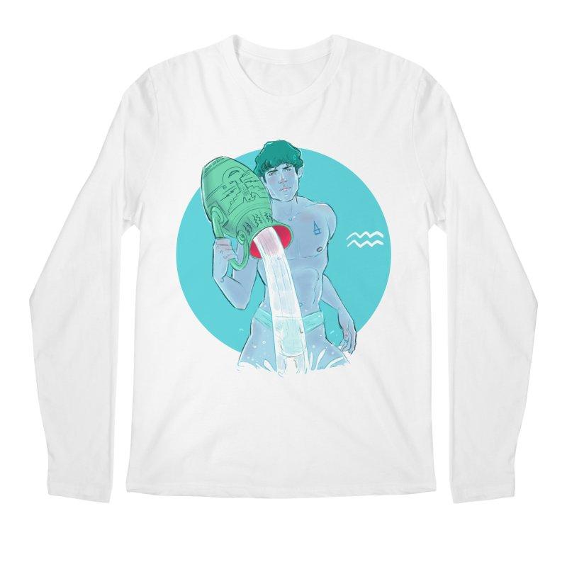 Aquarius Men's Regular Longsleeve T-Shirt by Ego Rodriguez