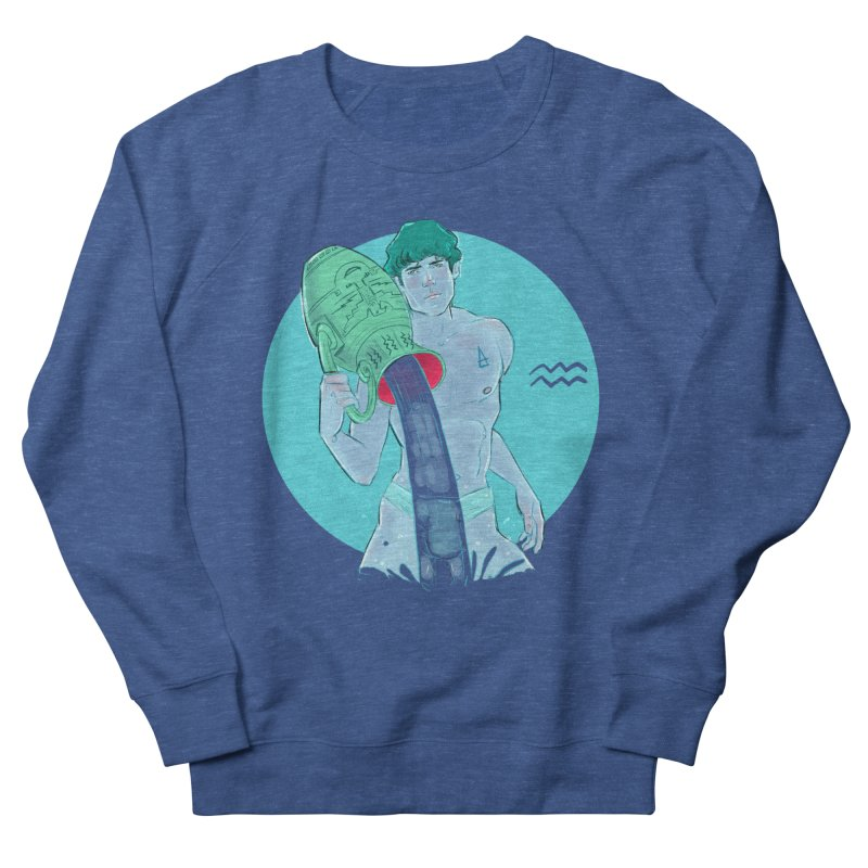 Aquarius Men's French Terry Sweatshirt by Ego Rodriguez