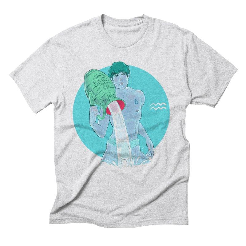 Aquarius Men's Triblend T-Shirt by Ego Rodriguez