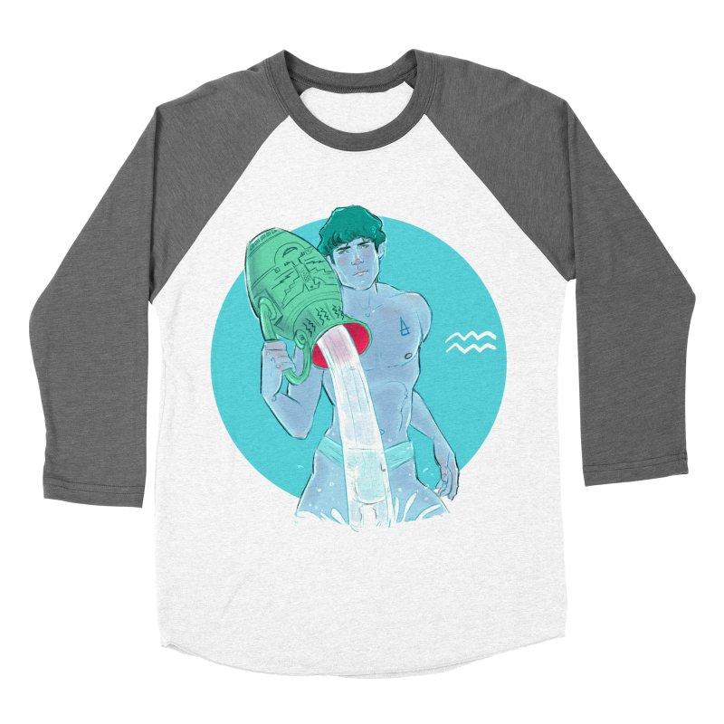 Aquarius Men's Baseball Triblend Longsleeve T-Shirt by Ego Rodriguez
