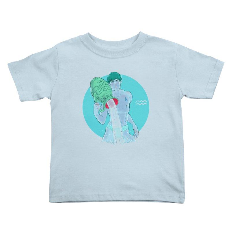 Aquarius Kids Toddler T-Shirt by Ego Rodriguez