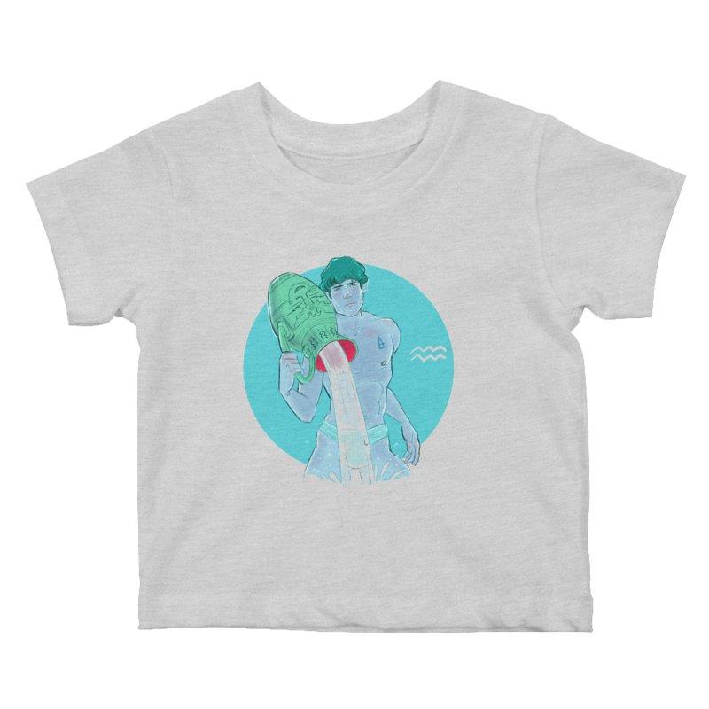 Aquarius Kids Baby T-Shirt by Ego Rodriguez