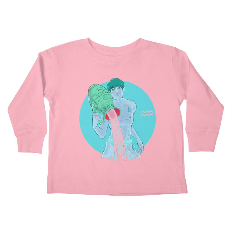 Aquarius Kids Toddler Longsleeve T-Shirt by Ego Rodriguez