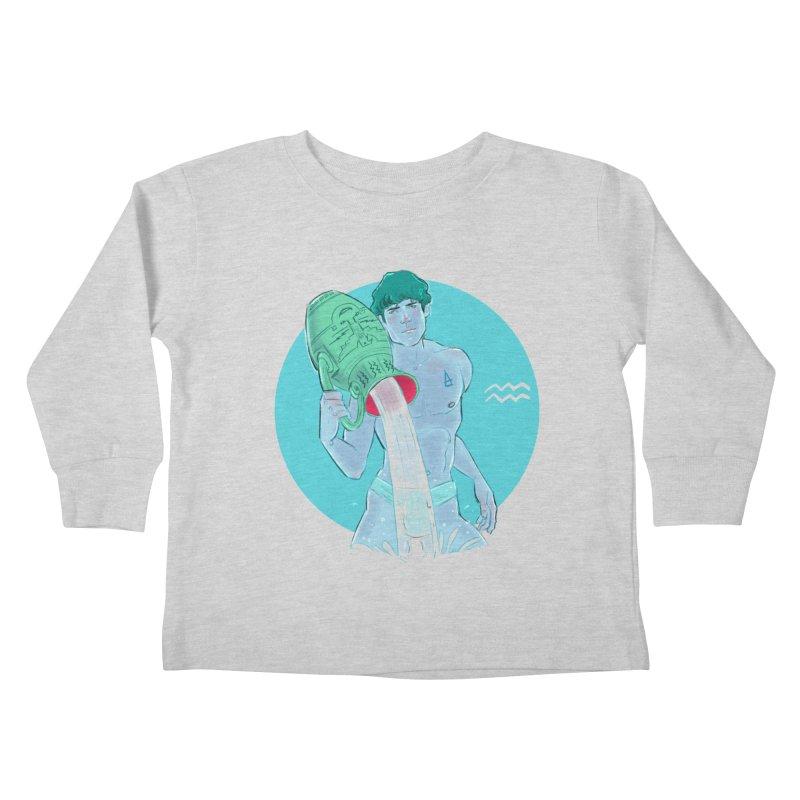Aquarius Kids Toddler Longsleeve T-Shirt by Ego Rodriguez