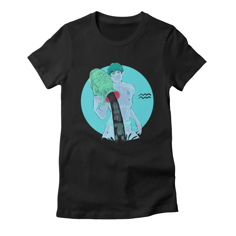 Aquarius Women's Fitted T-Shirt by Ego Rodriguez