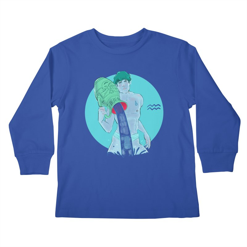 Aquarius Kids Longsleeve T-Shirt by Ego Rodriguez