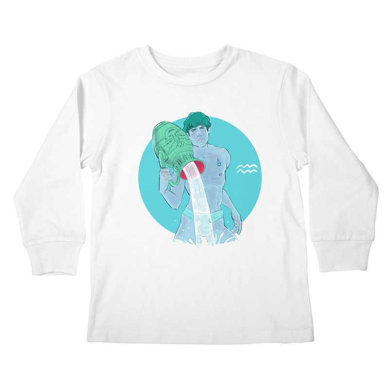 Aquarius Kids Longsleeve T-Shirt by Ego Rodriguez