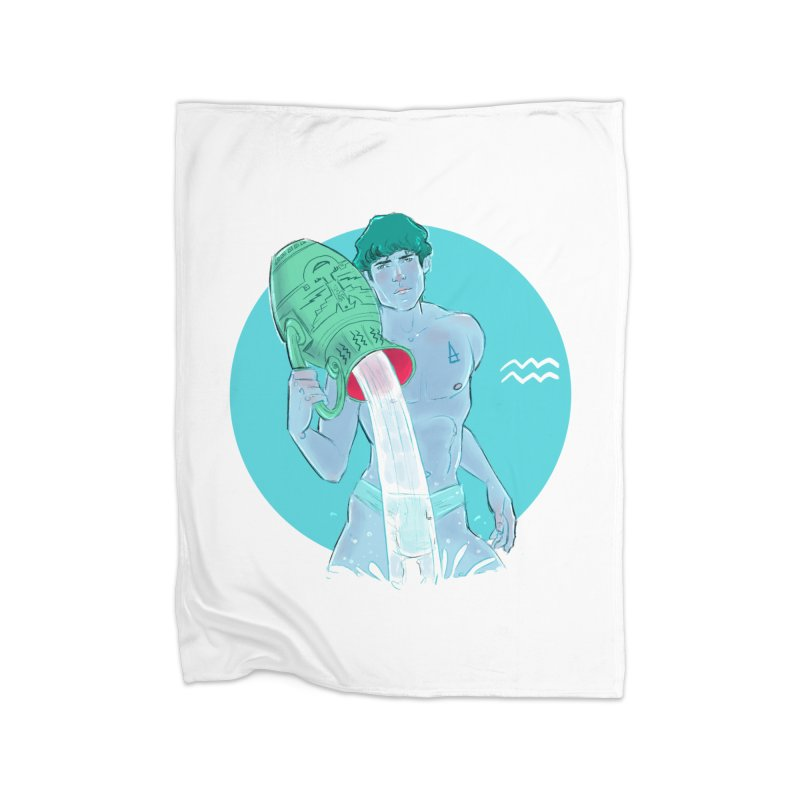 Aquarius Home Fleece Blanket Blanket by Ego Rodriguez