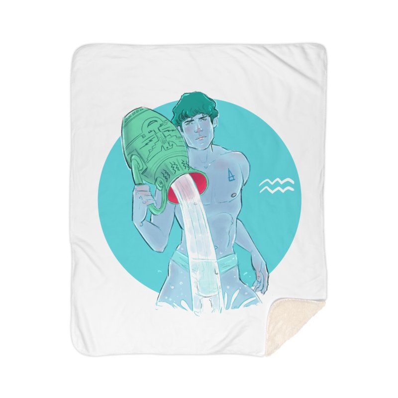 Aquarius Home Sherpa Blanket Blanket by Ego Rodriguez