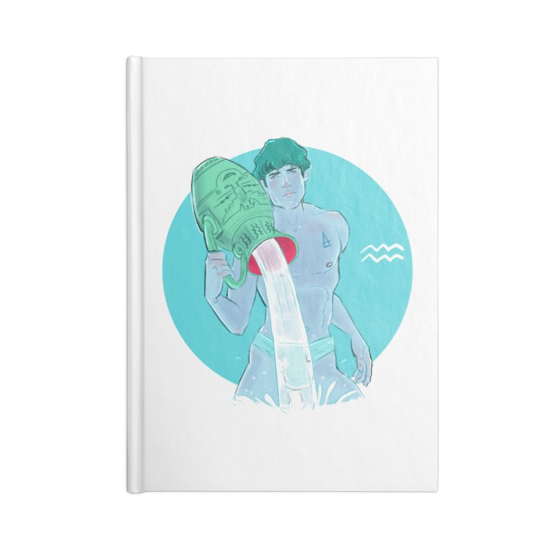 Aquarius Accessories Lined Journal Notebook by Ego Rodriguez