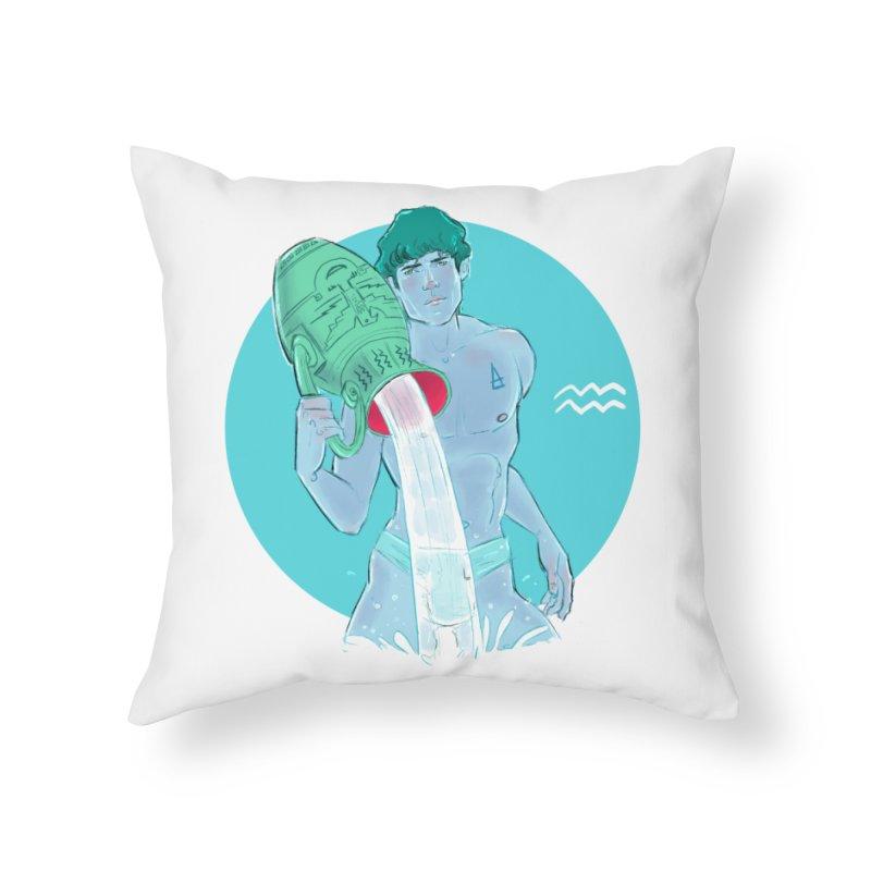 Aquarius Home Throw Pillow by Ego Rodriguez