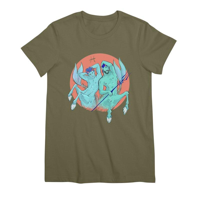 Pisces Women's Premium T-Shirt by Ego Rodriguez