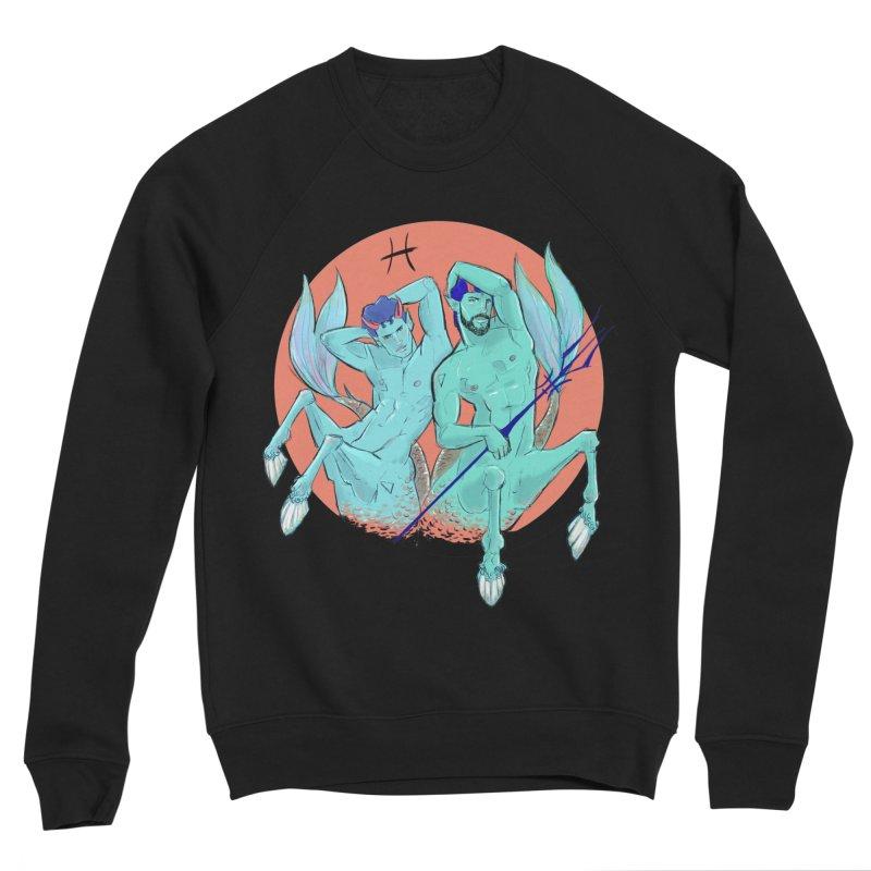 Pisces Men's Sponge Fleece Sweatshirt by Ego Rodriguez