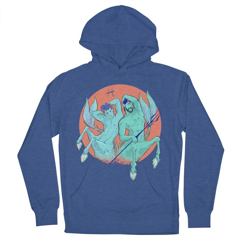 Pisces Men's French Terry Pullover Hoody by Ego Rodriguez