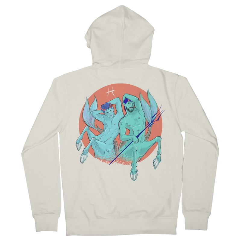 Pisces Men's French Terry Zip-Up Hoody by Ego Rodriguez