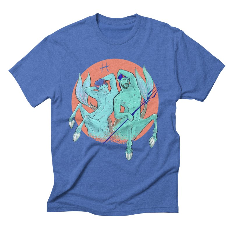 Pisces Men's Triblend T-Shirt by Ego Rodriguez