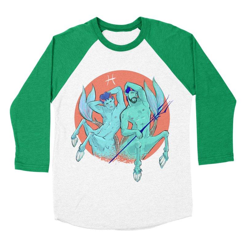 Pisces Men's Baseball Triblend Longsleeve T-Shirt by Ego Rodriguez