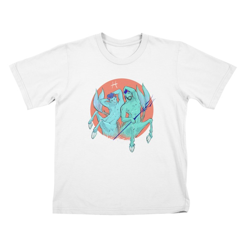 Pisces Kids T-Shirt by Ego Rodriguez