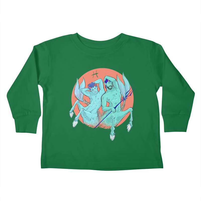 Pisces Kids Toddler Longsleeve T-Shirt by Ego Rodriguez