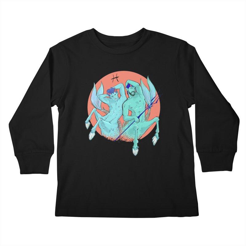 Pisces Kids Longsleeve T-Shirt by Ego Rodriguez
