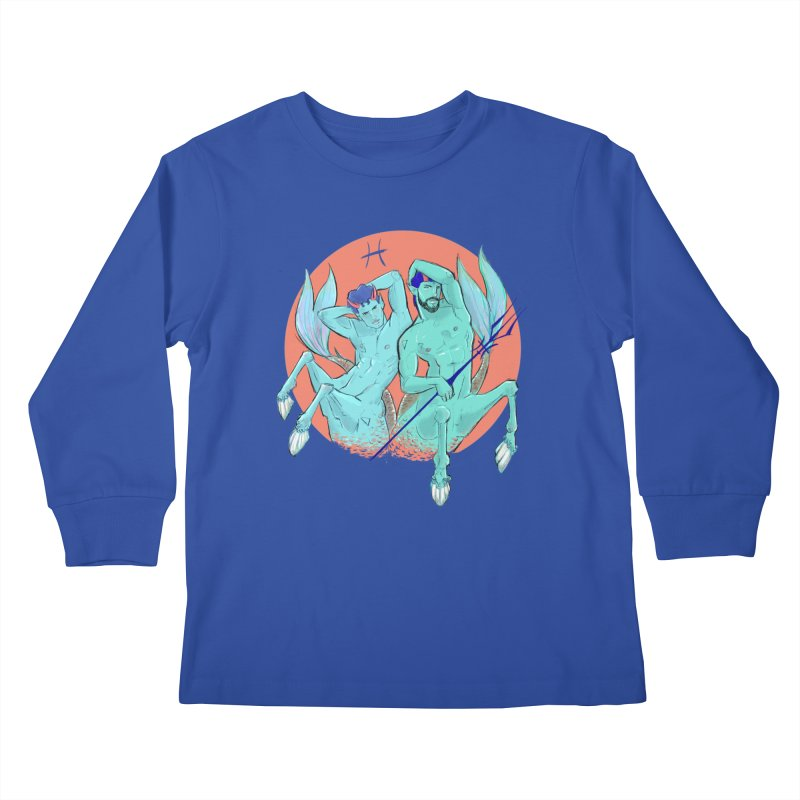 Pisces Kids Longsleeve T-Shirt by Ego Rodriguez