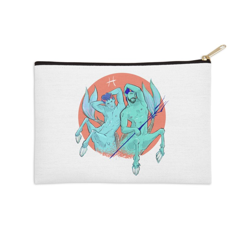Pisces Accessories Zip Pouch by Ego Rodriguez